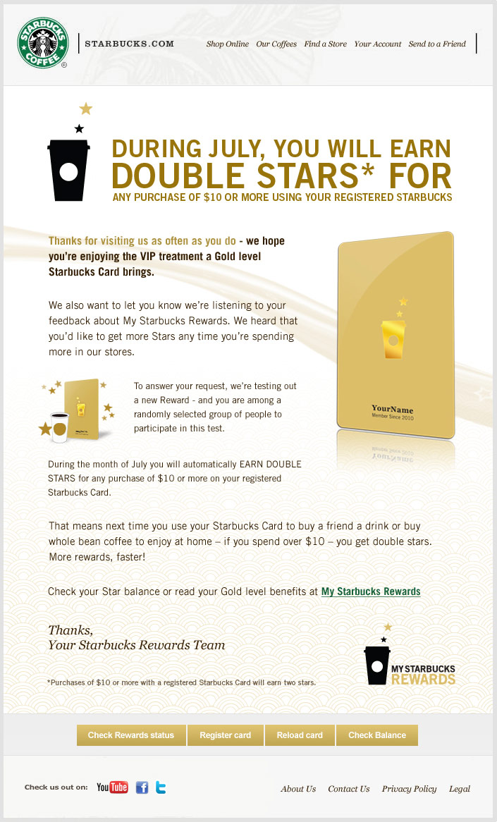 Starbucks Rewards Double